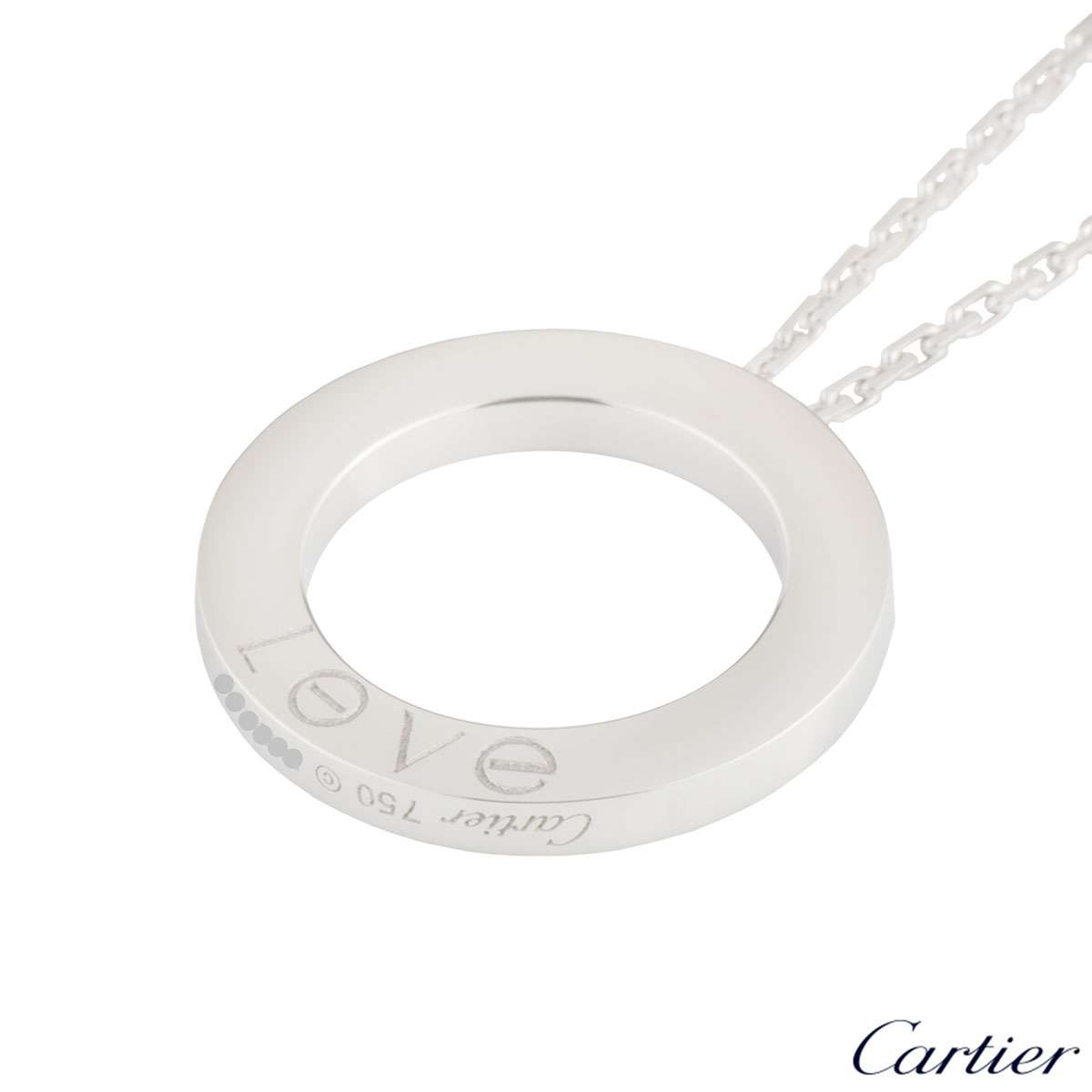 Cartier White Gold Love Necklace B7014300